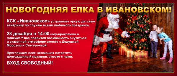 Новогодняя елка в Ивановском!